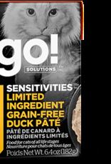 Petcurean GO! Sensitivities LID Grain Free Duck Pate Cat 6.4oz