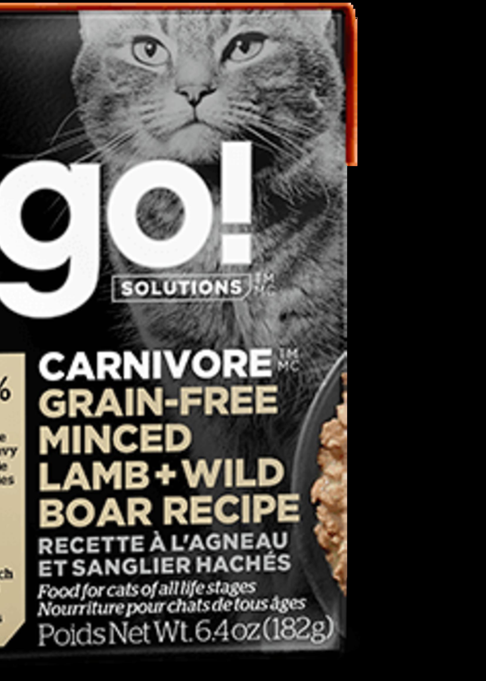 Petcurean GO Carnivore Grain Free Minced Lamb   Wild Boar Cat 6.4oz