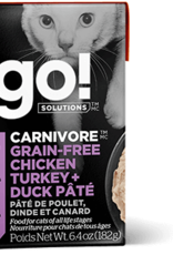 Petcurean Go Carnivore GF Chicken Turkey Duck Pate Cat 6.4oz