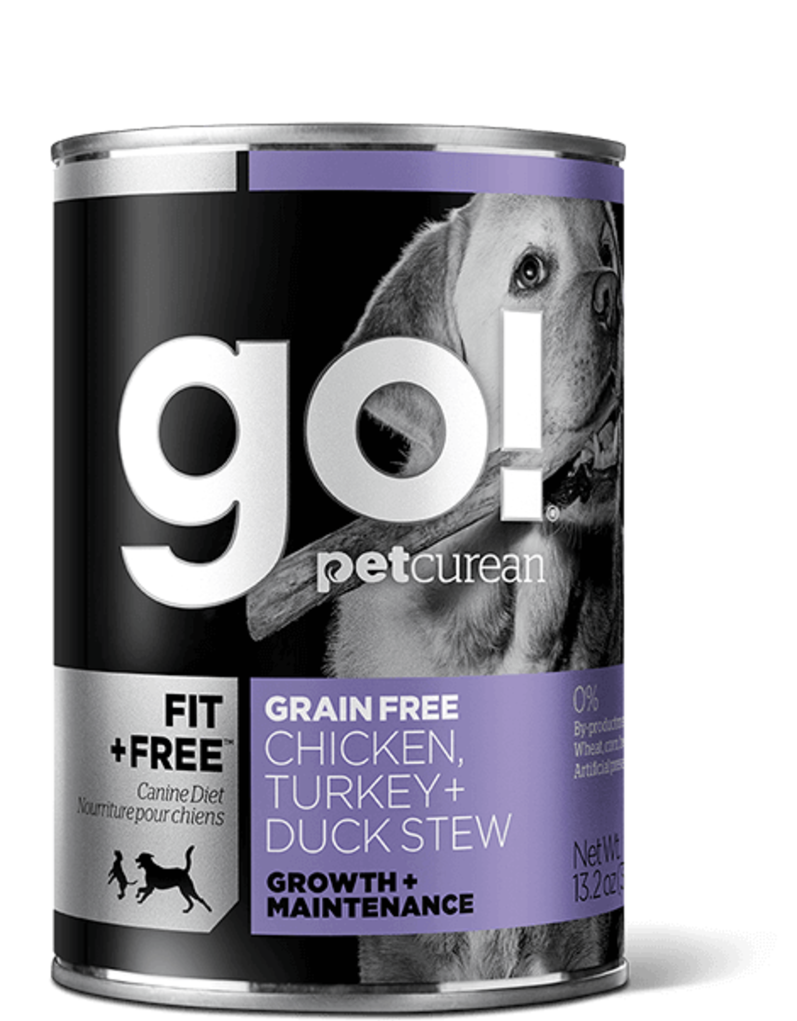 Petcurean Go Fit+Free Dog Grain Free Chicken Turkey  Duck Stew Can 374g