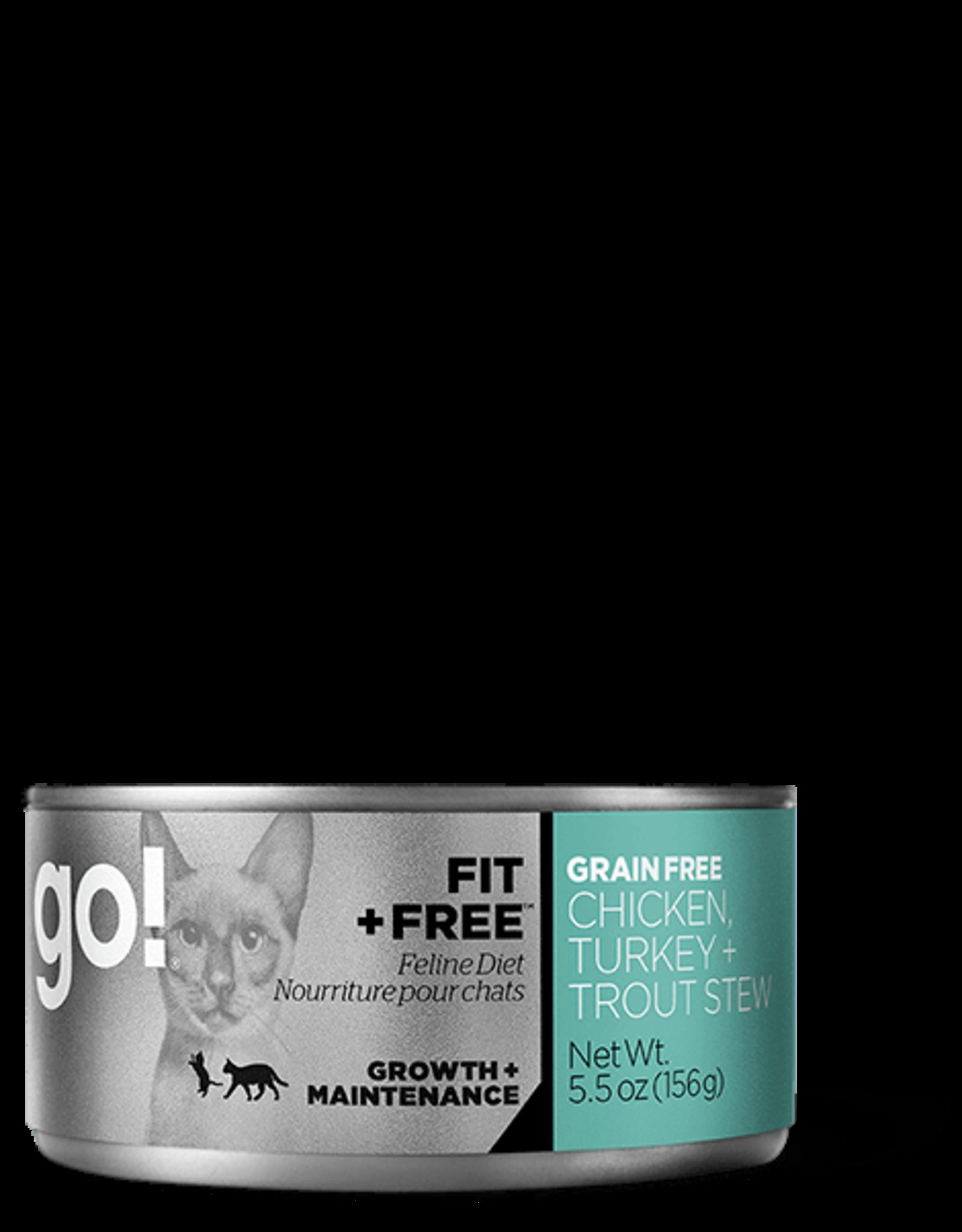 Petcurean Go Fit+Free Cat Grain Free Chick Turkey Trout Stew Can 5.5oz