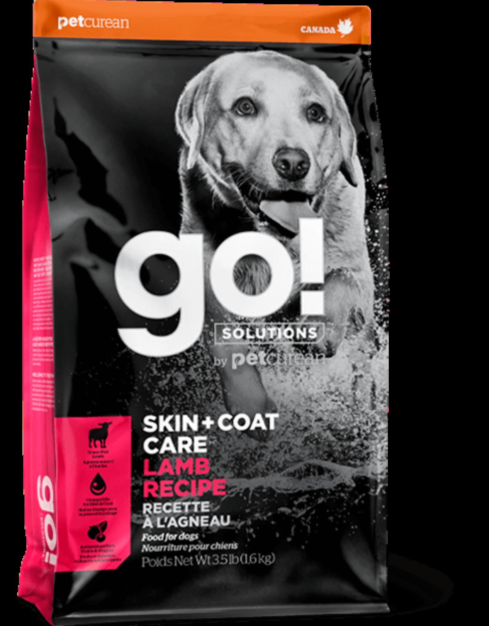 Petcurean Go Skin & Coat Dog Lamb with grains 12lb