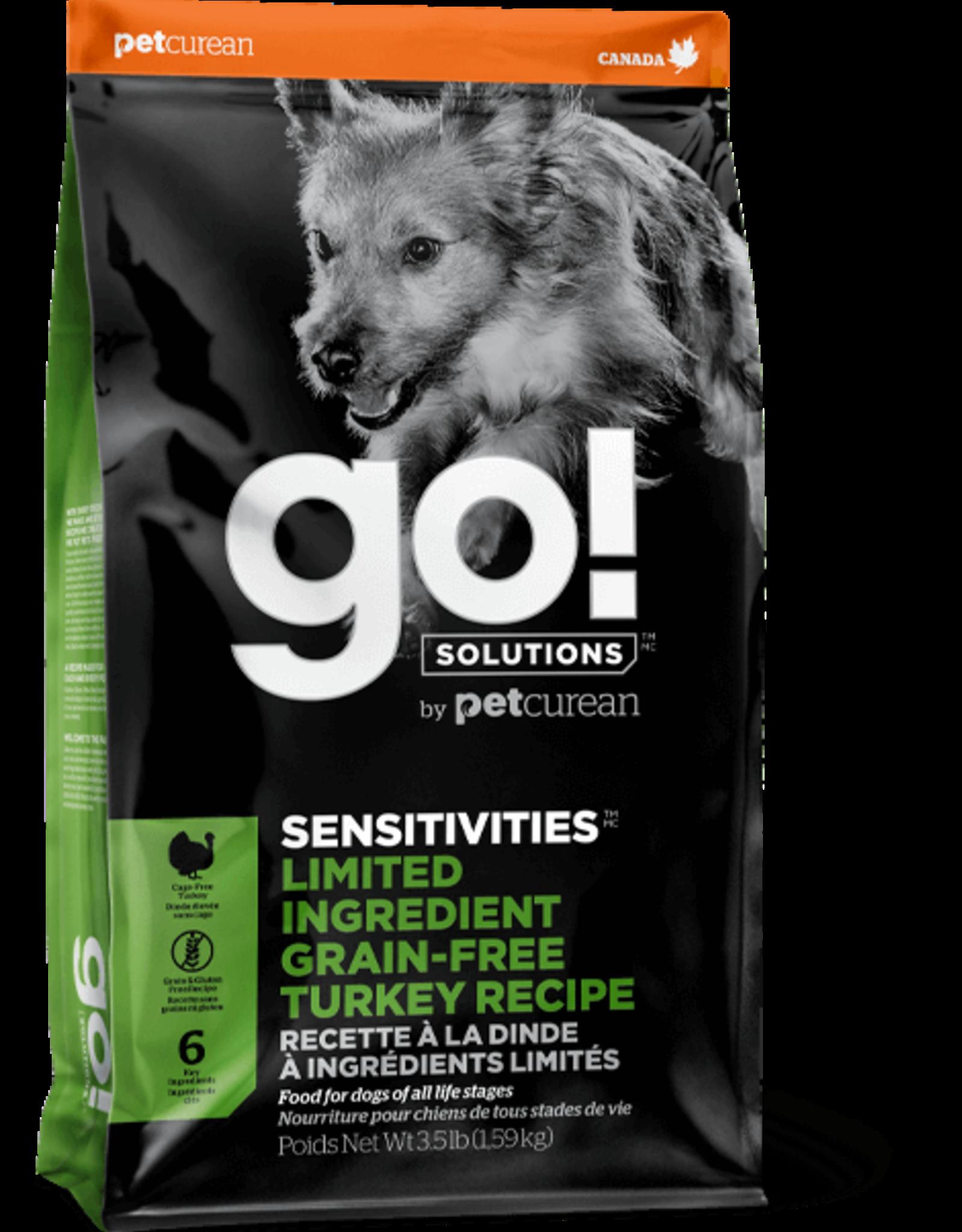 Petcurean GO! Sensitivities Grain Free LID Turkey Dog 12lbs
