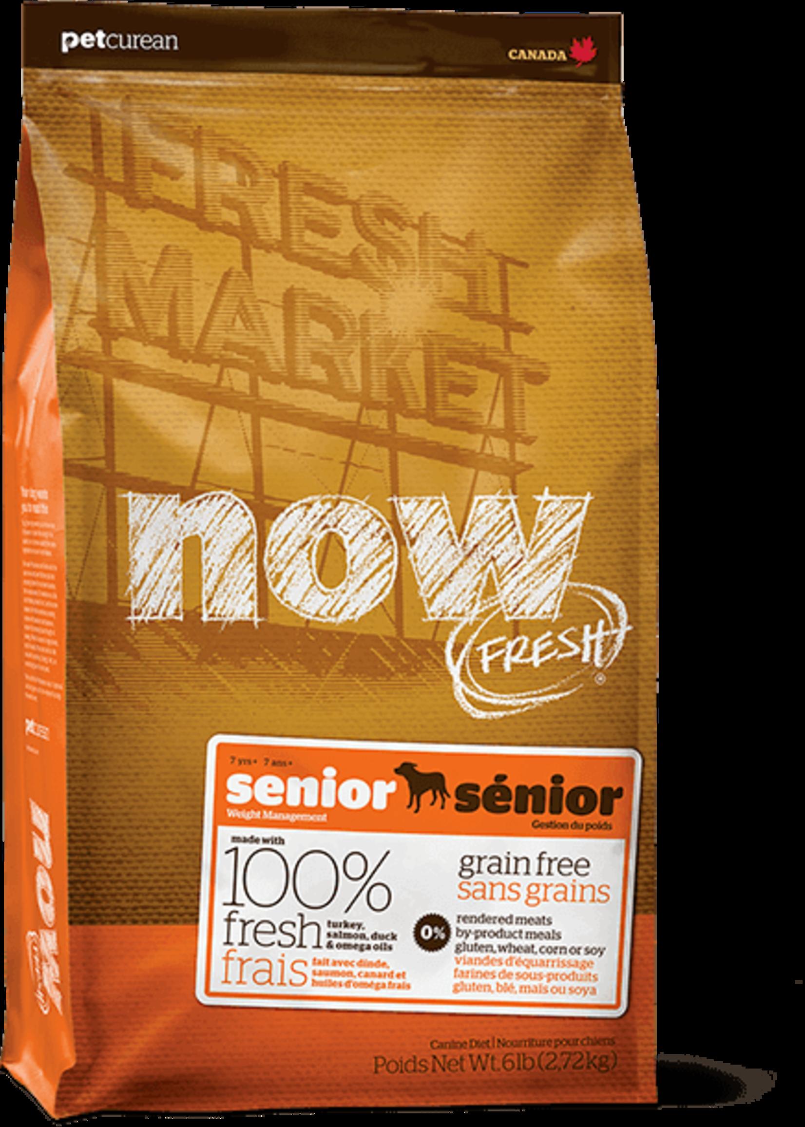 Petcurean Now Fresh Grain Free Dog Senior Turkey Salmon Duck 6lb