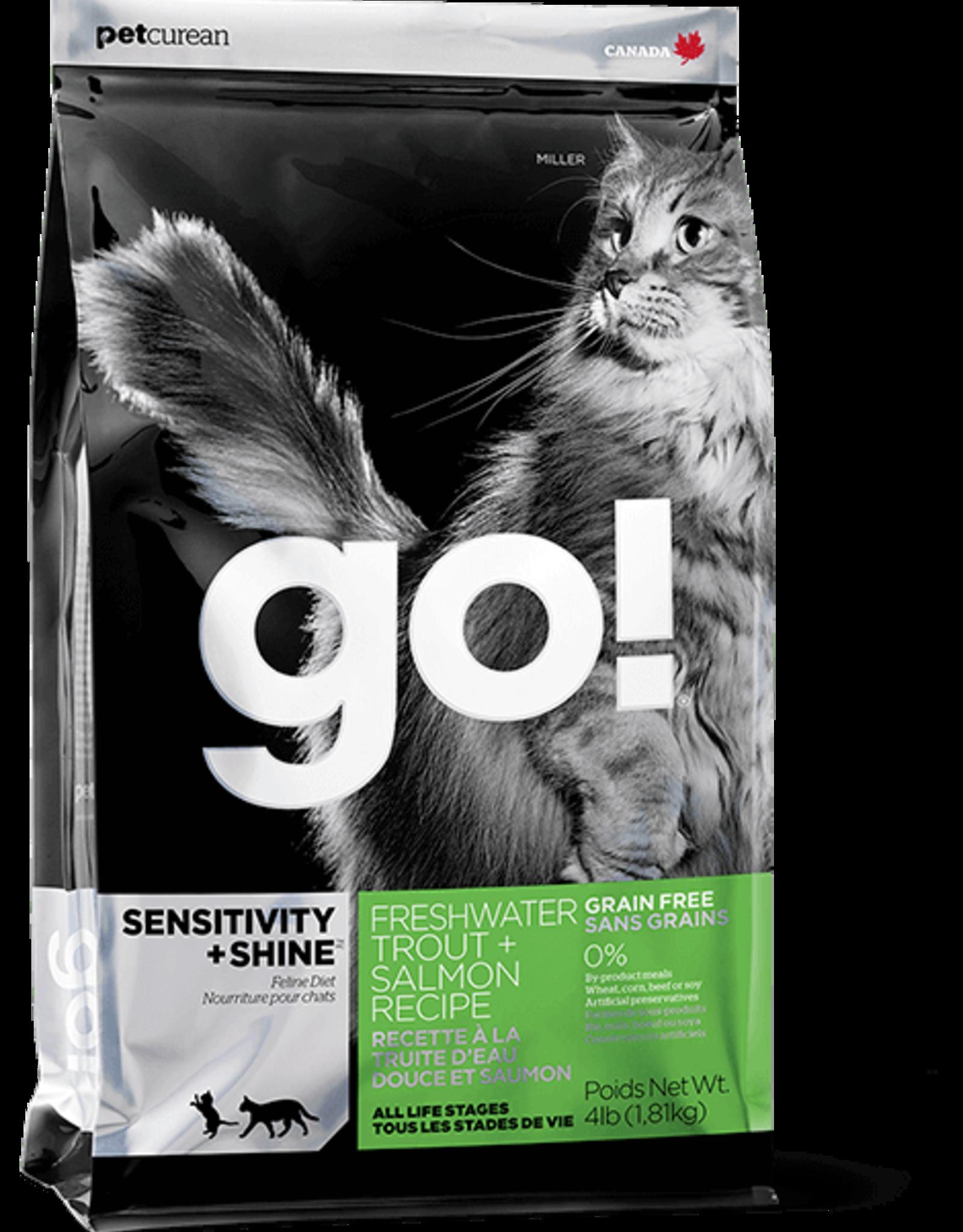 Petcurean Go Sensitivity+Shine Cat Grain Free Trout Salmon 8lb