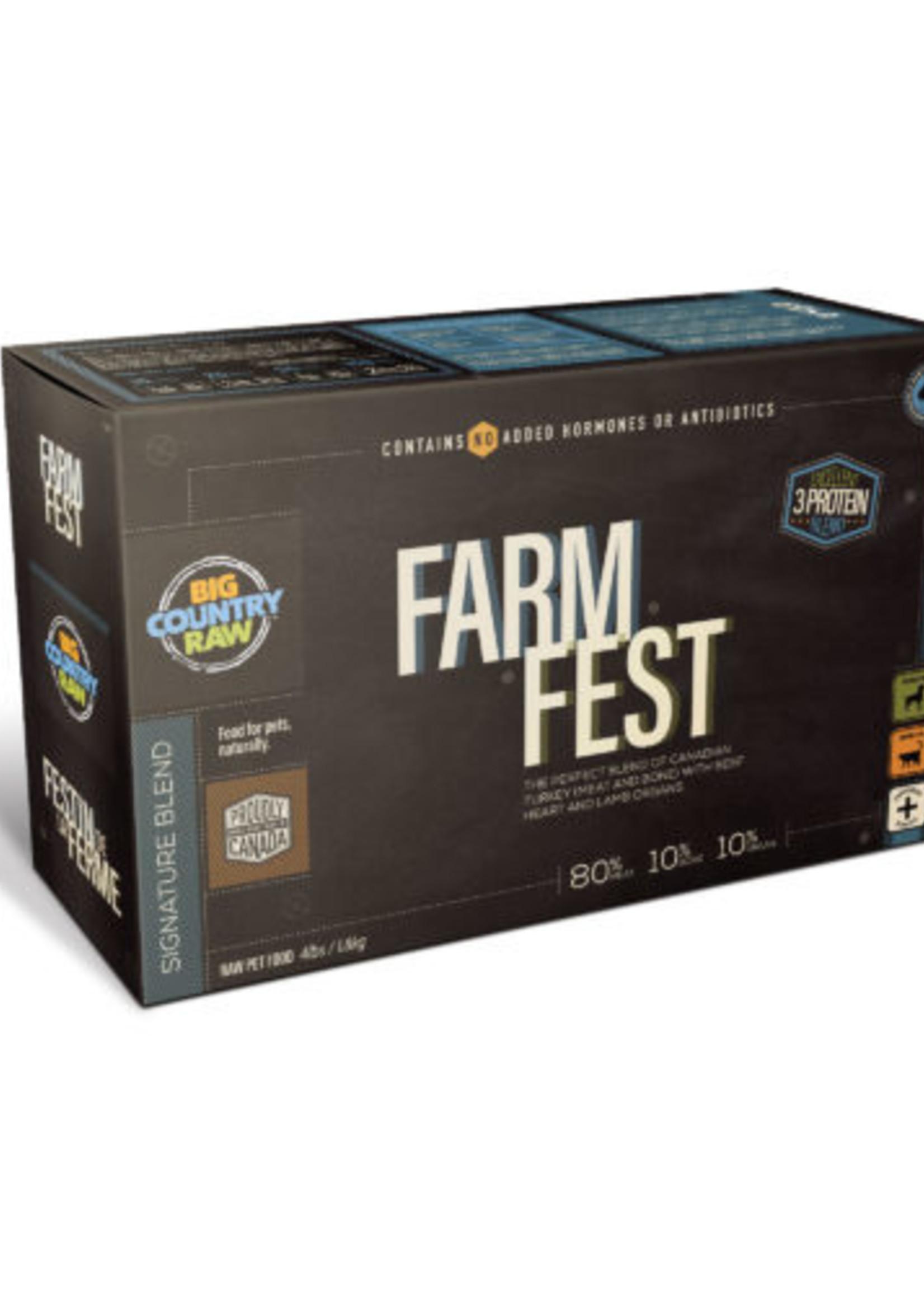 Big Country Raw Big Country Raw Farm Fest Blend Carton 4lbs