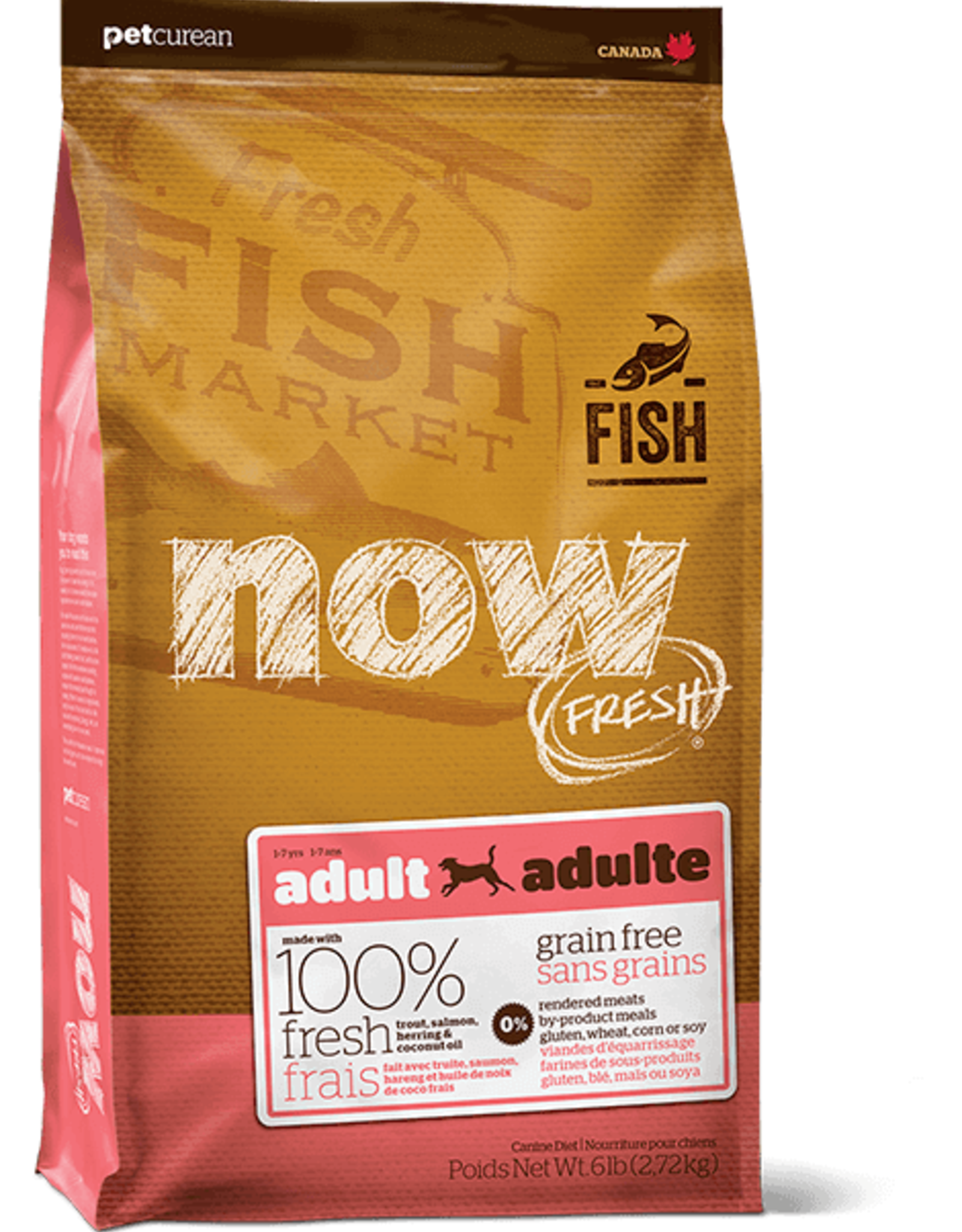 Petcurean Now Fresh Grain Free Dog Adult Trout, Salmon, Herring 22lbs