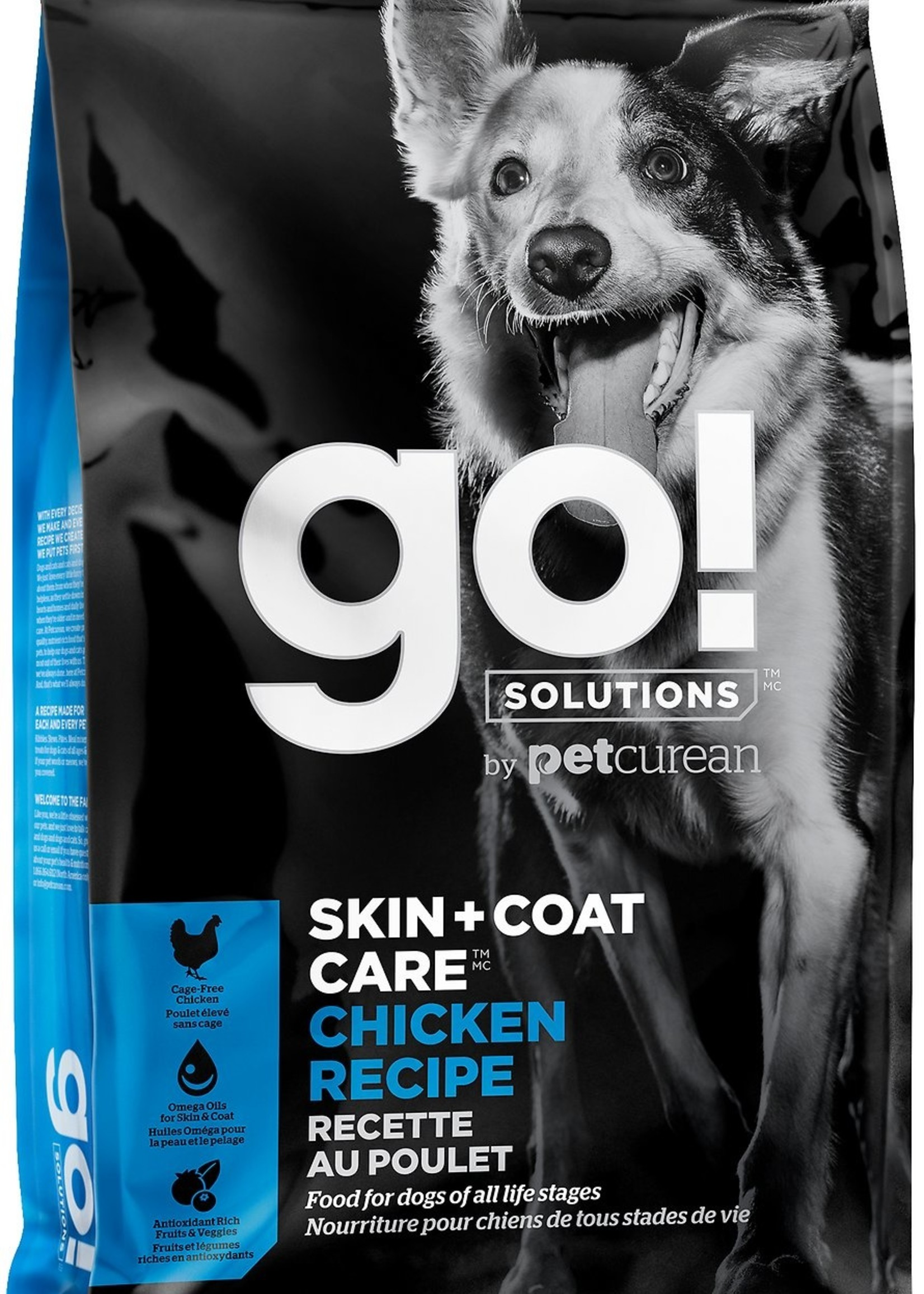 Petcurean Go Skin & Coat Dog Chicken With Grains 25lb