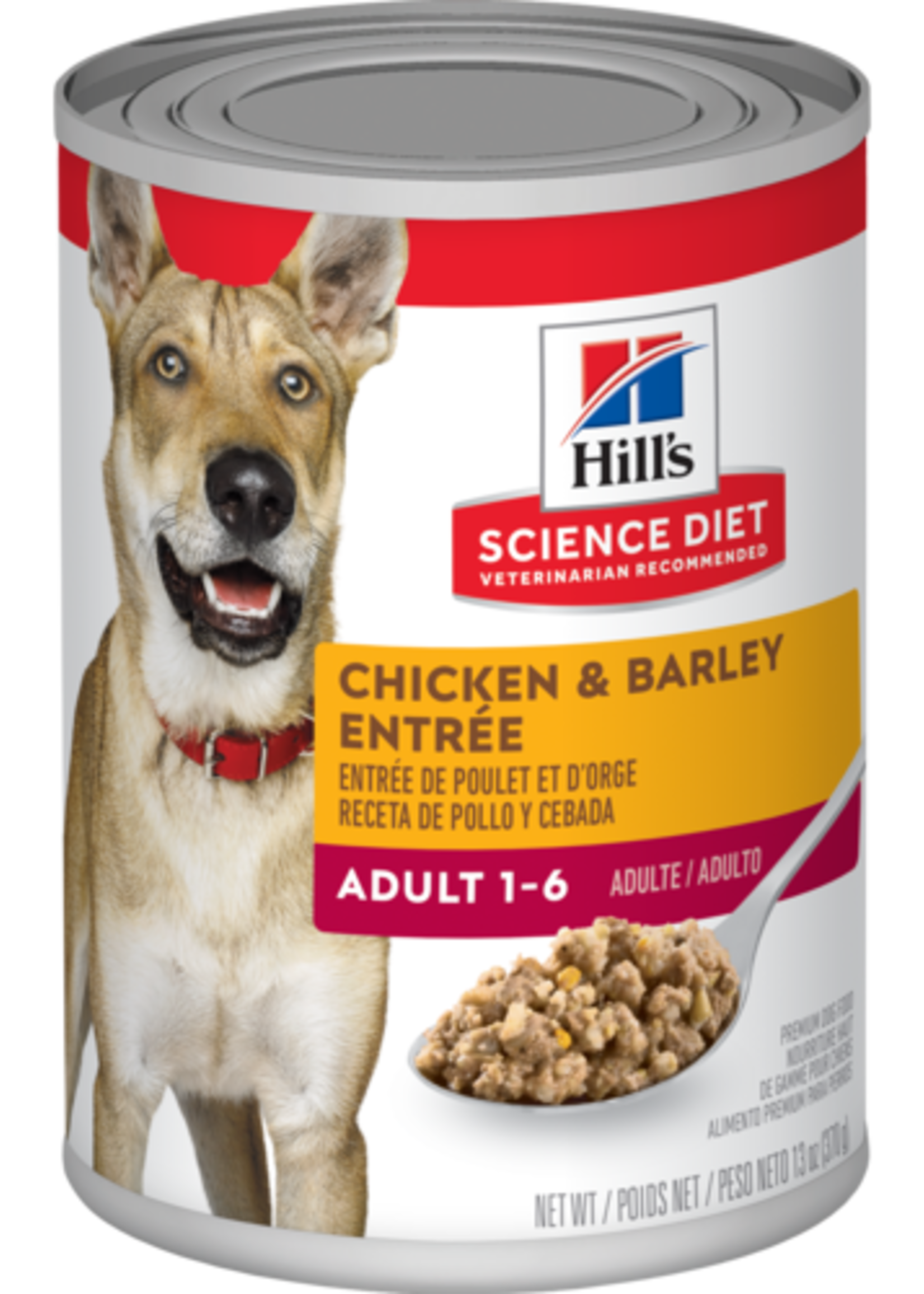 Hill's Science Diet Hill's Science Diet Canine Can Chicken & Barley Entree 370gm.