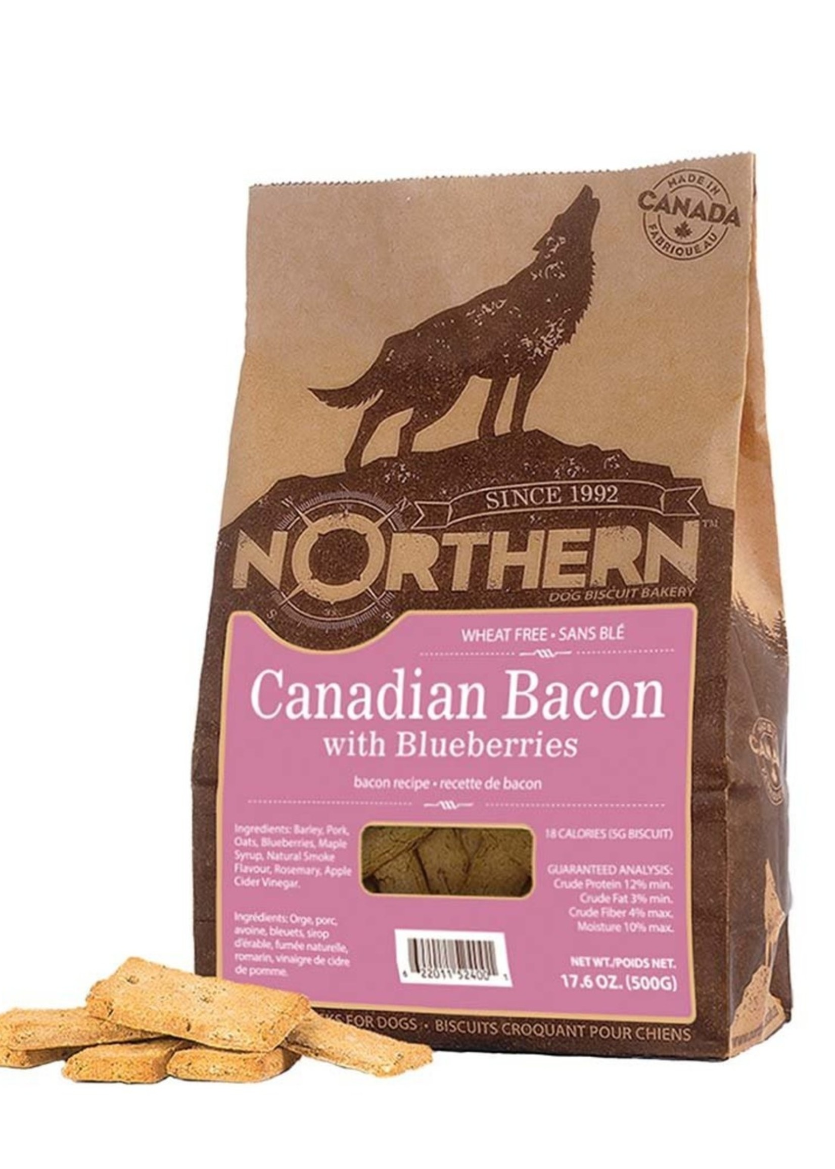 Northern Biscuit Canadian Bacon & Blueberries Box Single 500g