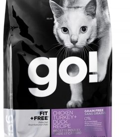 Petcurean Go Fit+Free Cat Grain Free Chicken Turkey Duck 4lb