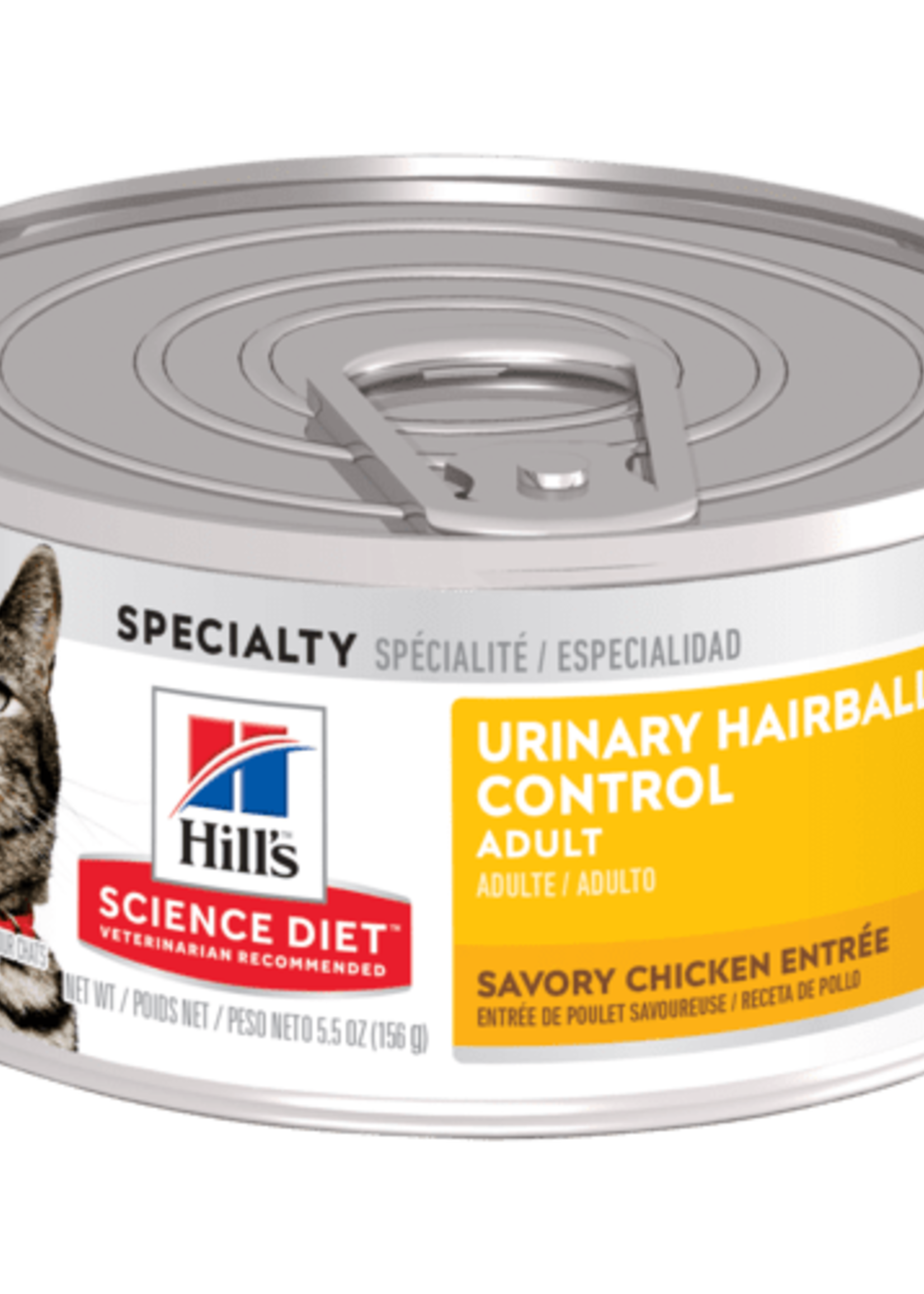 Hill's Science Diet Hill's Science Diet Feline Urinary Hairball Savory Chicken Entre Can 156 g