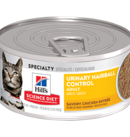 Hill's Science Diet Hill's Science Diet Urinary Hairball Savory Chicken Entre Can 156 g