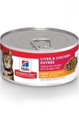 Hill's Science Diet Hill's Science Diet Feline Can Light Liver & Chicken 156g