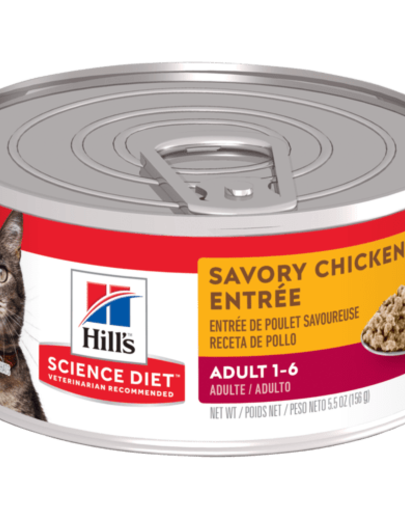 Hill's Science Diet Hill's Science Diet Feline Can Savory Chicken Entree 1-6 156g
