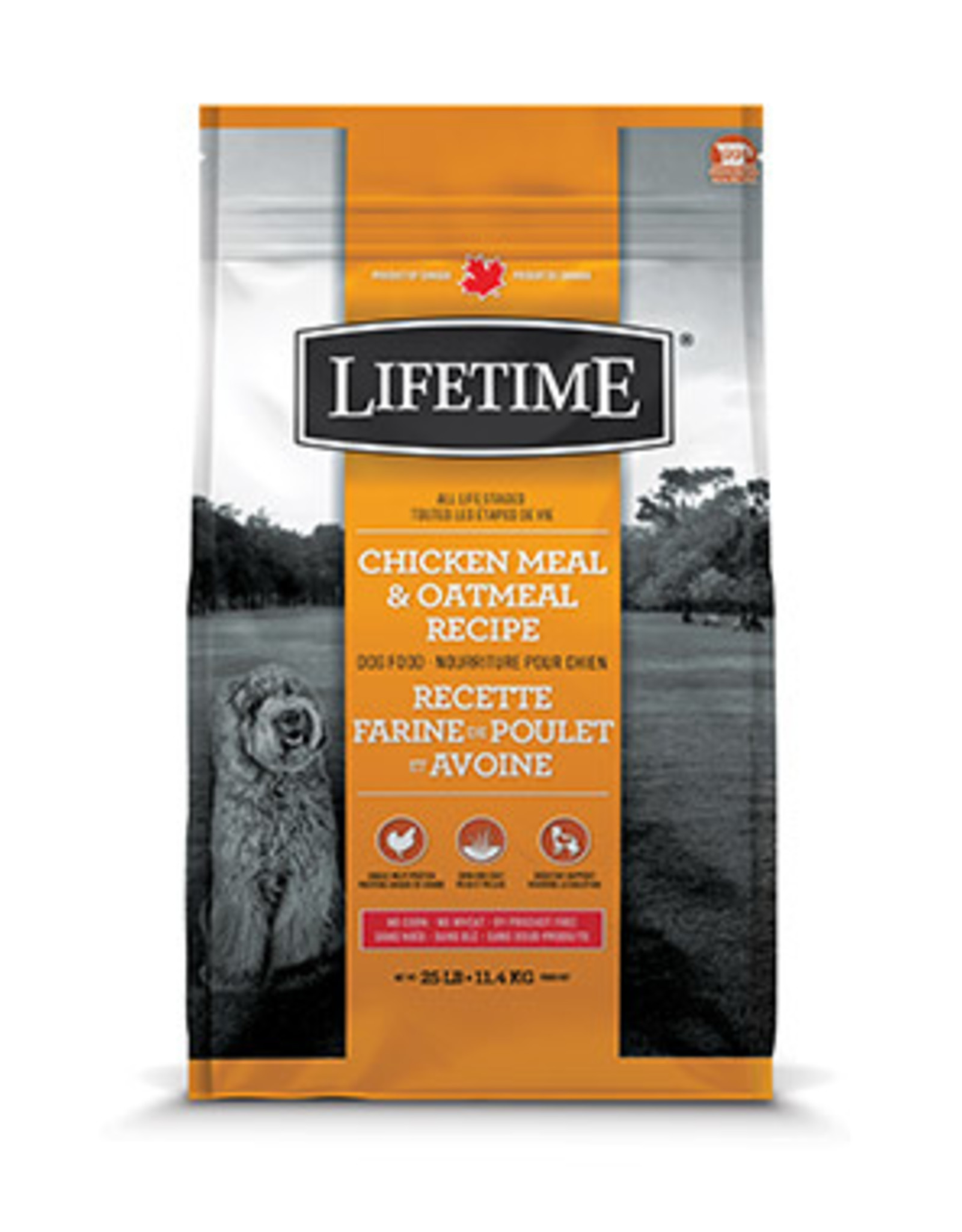 Lifetime Dog Chicken & Oatmeal  11.4kg