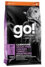 Go Carnivore Grain Free Chicken Turkey Duck Senior  Dog 22lb