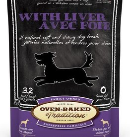Oven Baked Tradition All Natural Soft & Chewy Dog Treats w/Liver 8oz.