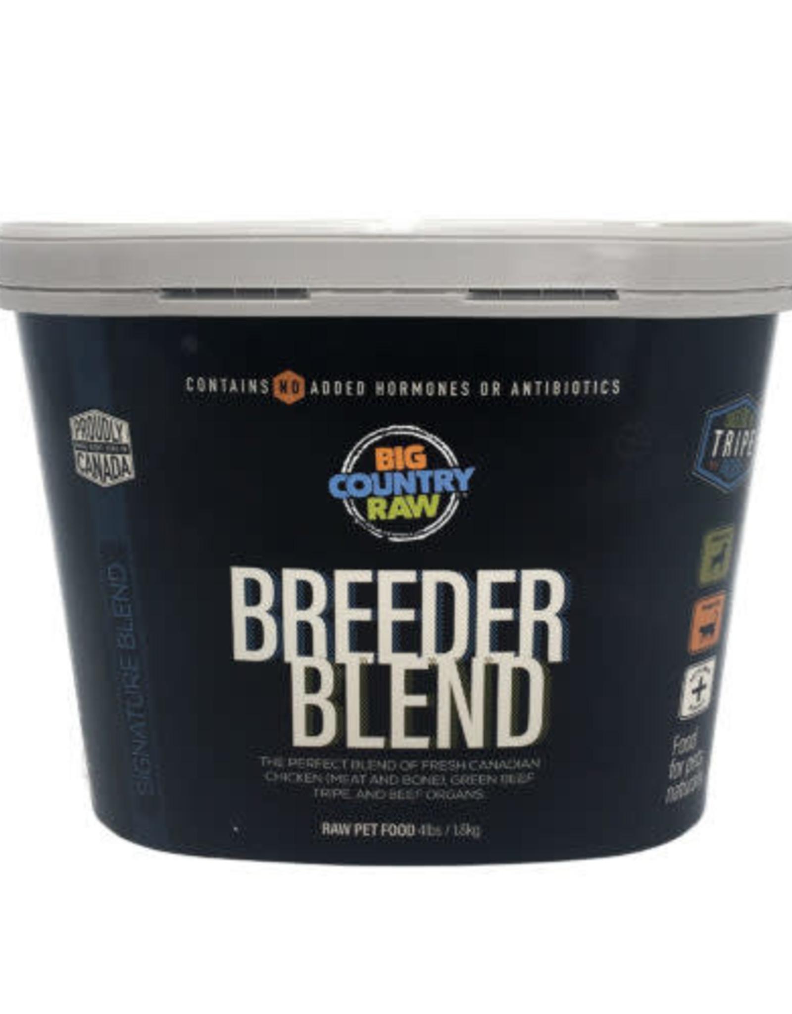 Big Country Raw Big Country Raw Breeder Blend Tub 4lbs