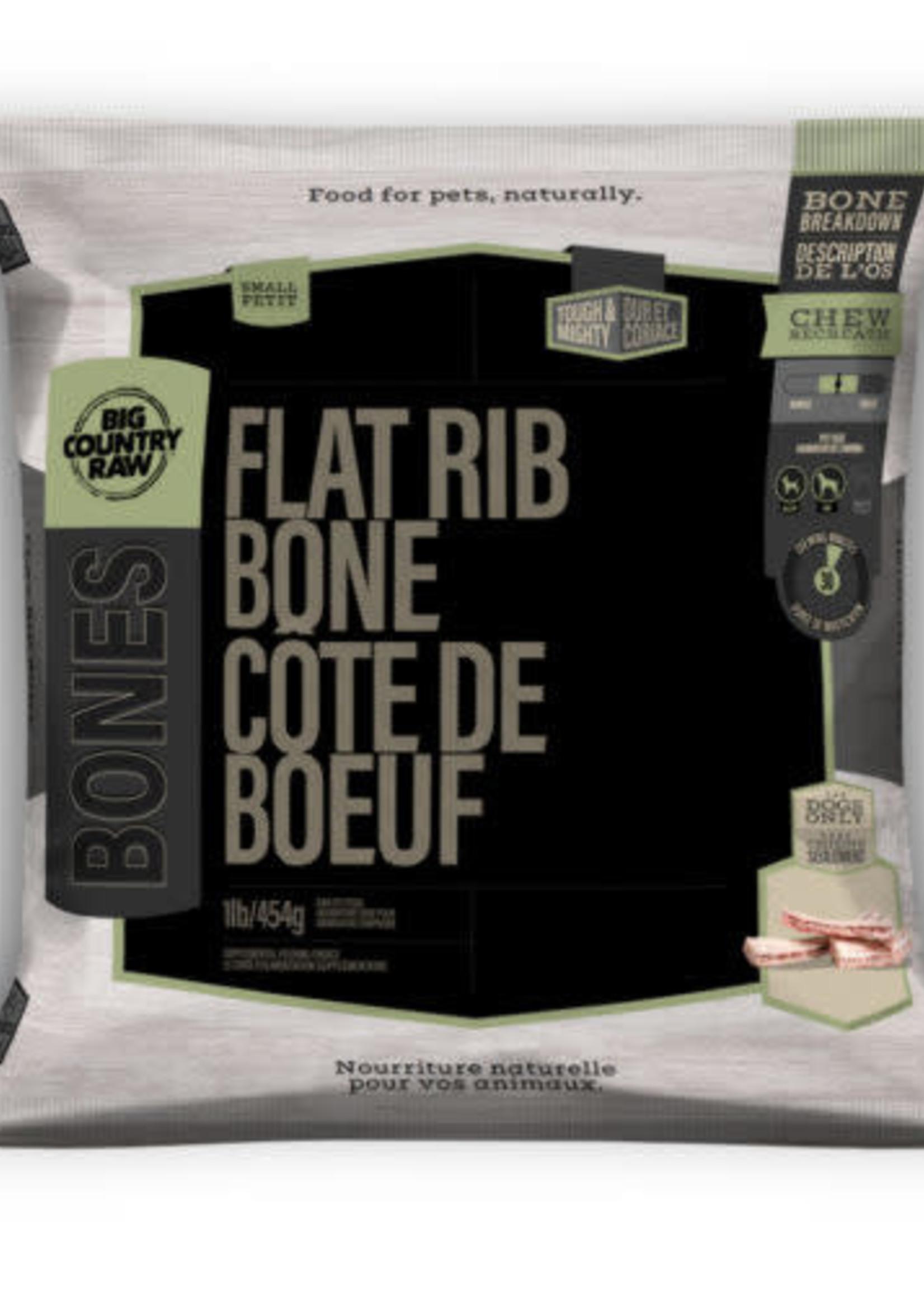 Big Country Raw Big Country Raw Flat Rib Bone Small 1 lb