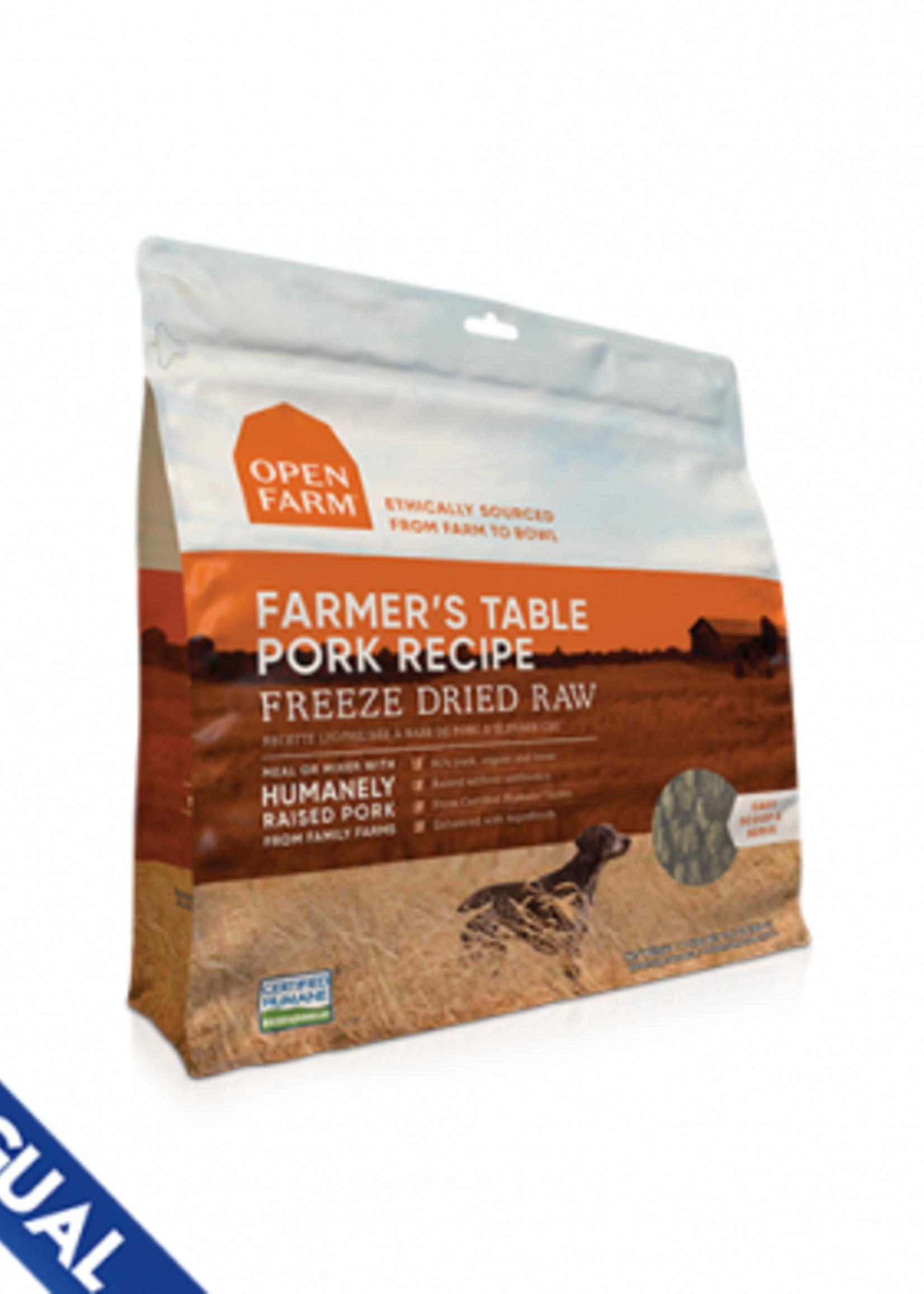 Open Farm Open Farm Freeze Dried Farmer's Table Pork 13.5 oz