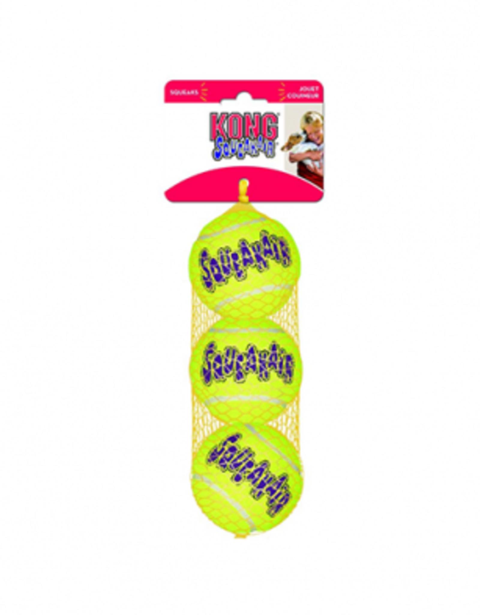 Kong Air Squeaker Tennis Balls Small 3pk