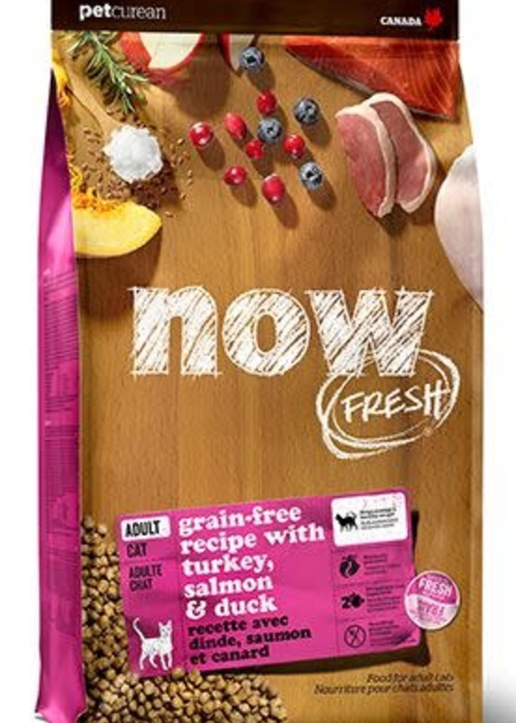 Petcurean Now Fresh Grain Free Cat Turkey Salmon Duck 3lb