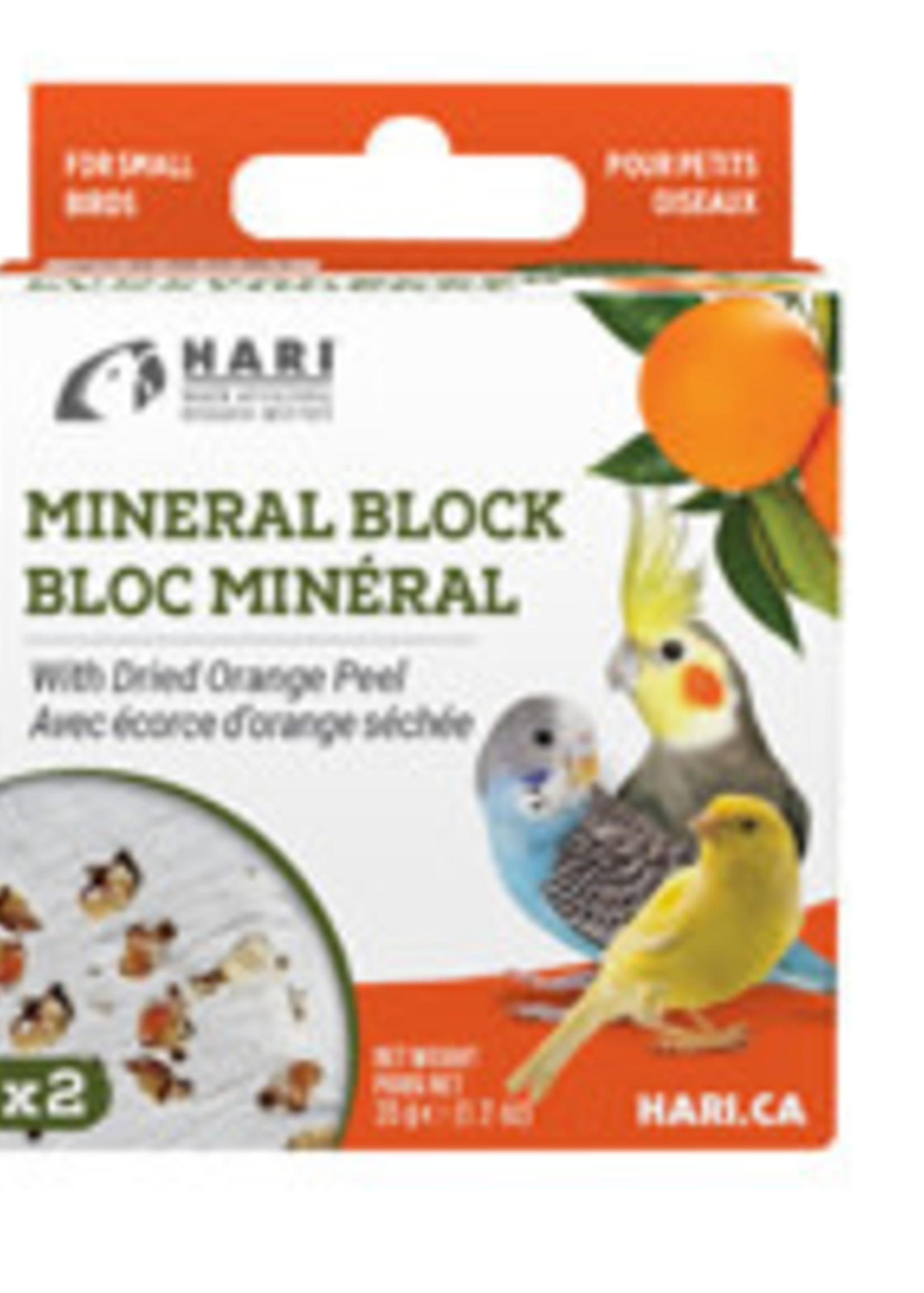 HARI Mineral Block for Small Birds - Dried Orange Peel - 35 g - 2 pack