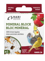 HARI Mineral Block for Small Birds - Dried Apple - 40 g - 1 pack