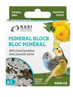 HARI Mineral Block for Small Birds - Dried Dandelion - 40 g - 1 pack