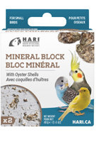 HARI Mineral Block for Small Birds - Oyster Shells - 40 g - 2 pack