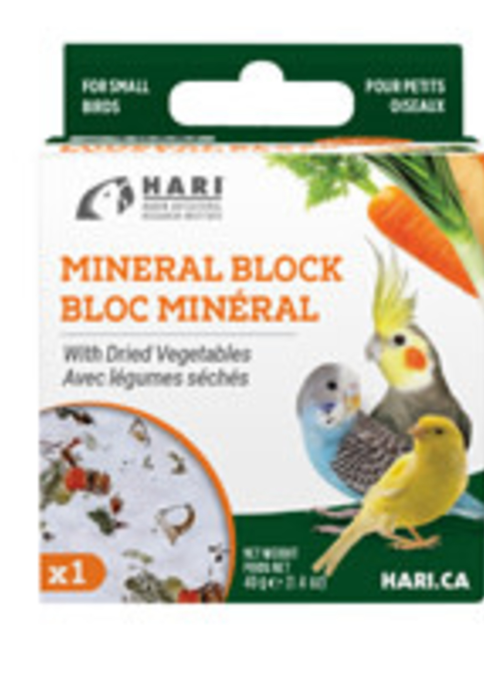 HARI Mineral Block for Small Birds - Dried Vegetables - 40 g - 1 pack