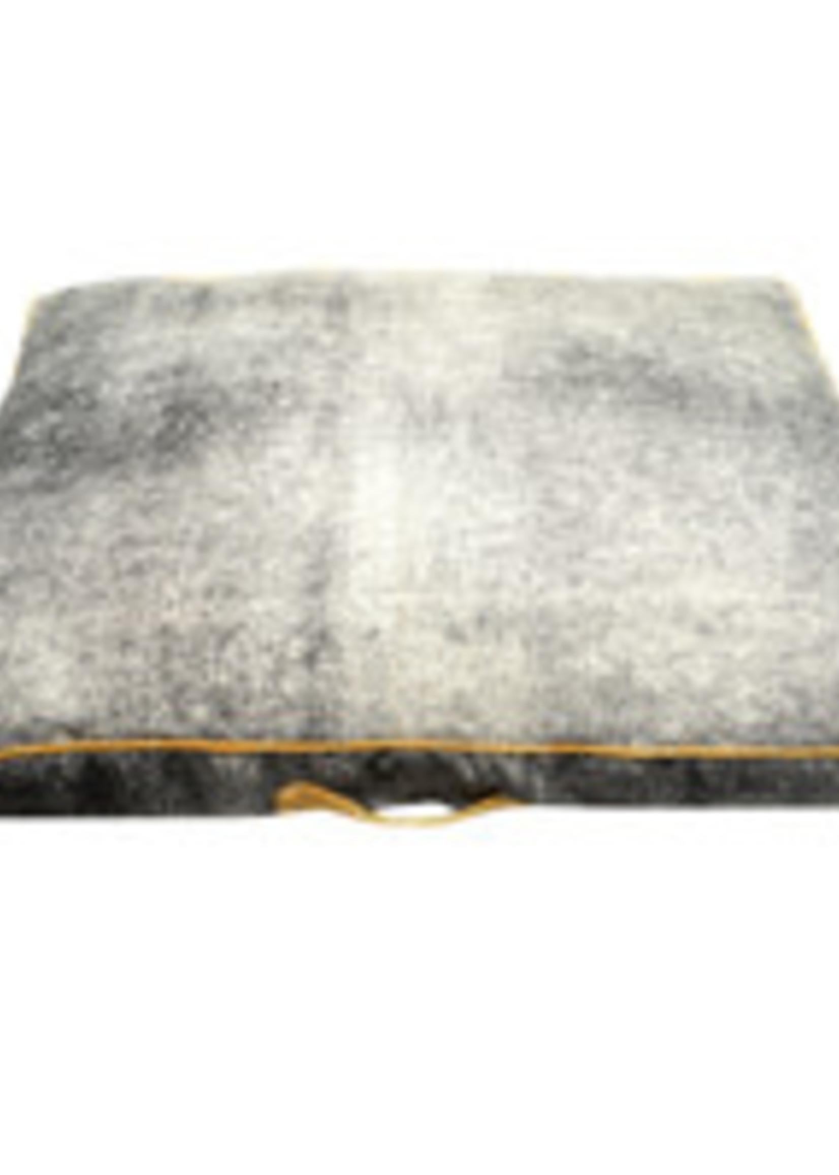 Resploot Resploot Mattress - Rectangular - Grey Smoke - 100 x 70 x 10 cm (39 x 28 x 4 in)