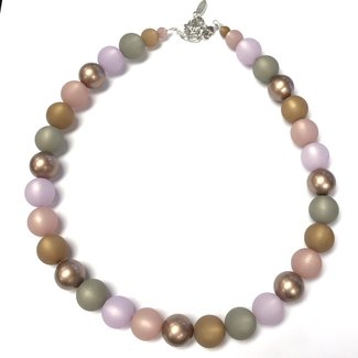 PMA Necklace Multi Medium Lilac With Metallic Spring