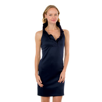 Gretchen Scott Ruffneck Sleeveless Dress