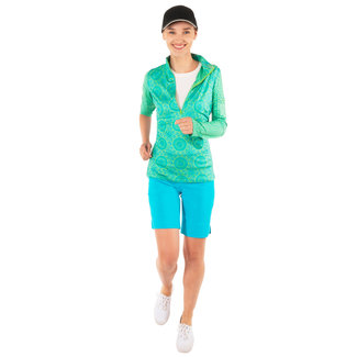 Gretchen Scott Gretchen Scott Jock Girl Half-Zip Pullover - Turq/Kelly