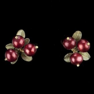 Michael Michaud Design Michael Michaud Cranberry Earrings - 3 Stone Post