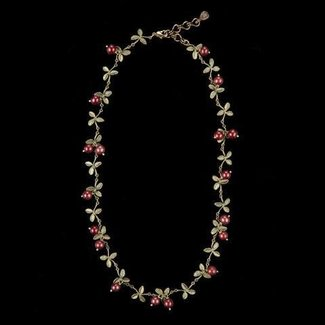 "Michael Michaud Design Michael Michaud Cranberry Necklace - Delicate 16"" Adjustable"