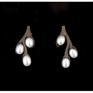 Michael Michaud Design Michael Michaud Pussy Willow Earrings - Pearl Stud