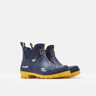 Joules Joules Wellibobs Short Printed Rain Boots Navy Harbour Dogs