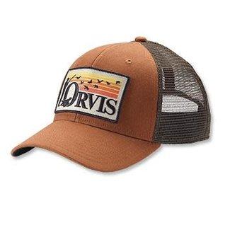 Orvis Orvis Retro Flush Trucker Hat Brown/Orange