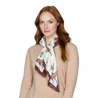 Dubarry Tullynally Silk Pheasant Print Scarf