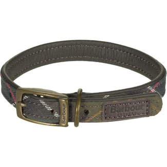Barbour Classic Tartan Leather Dog Collar