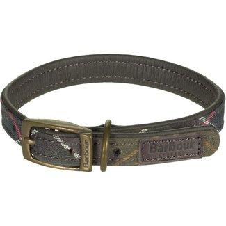 Barbour Classic Tartan Leather Dog Collar