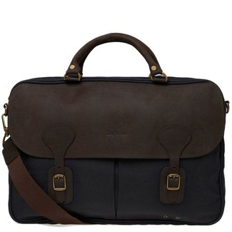 Barbour Wax Leather Briefcase Olive