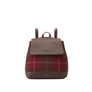 Joules Joules Trippa Tweed Rucksack Red Check