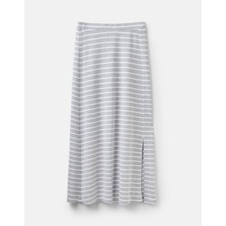 Joules Joules Women's Marion Jersey Maxi Skirt Grey/White Stripe
