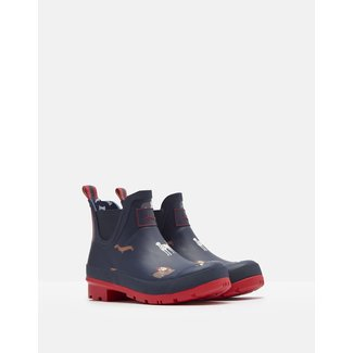 Joules Joules Wellibobs Short Printed Rain Boots Navy Dogs