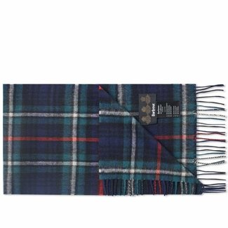 Barbour New Check Lambswool and Cashmere Scarf