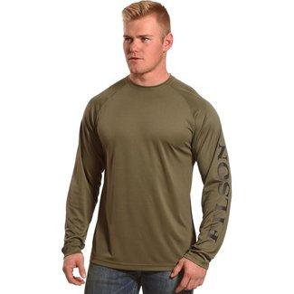Filson Filson Long Sleeve Barrier T-shirt - Warm Khaki
